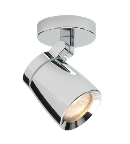 Chrome effect plate & clear glass IP44 Bathroom Spotlight BX39166-17 by Endon (Double Insulated)